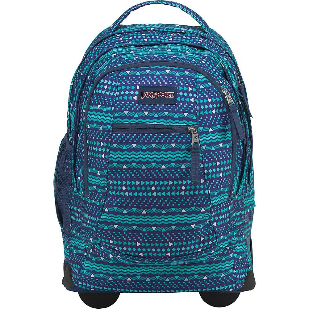 240b22ab80e5 Galleon - JanSport Driver 8 Rolling Backpack- Sale Colors (Tribal Wave Tonal