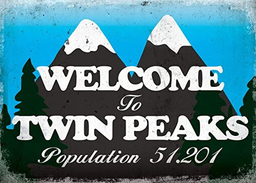 Welcome To Twin Peaks Póster de Pared Metal Creativo Placa ...