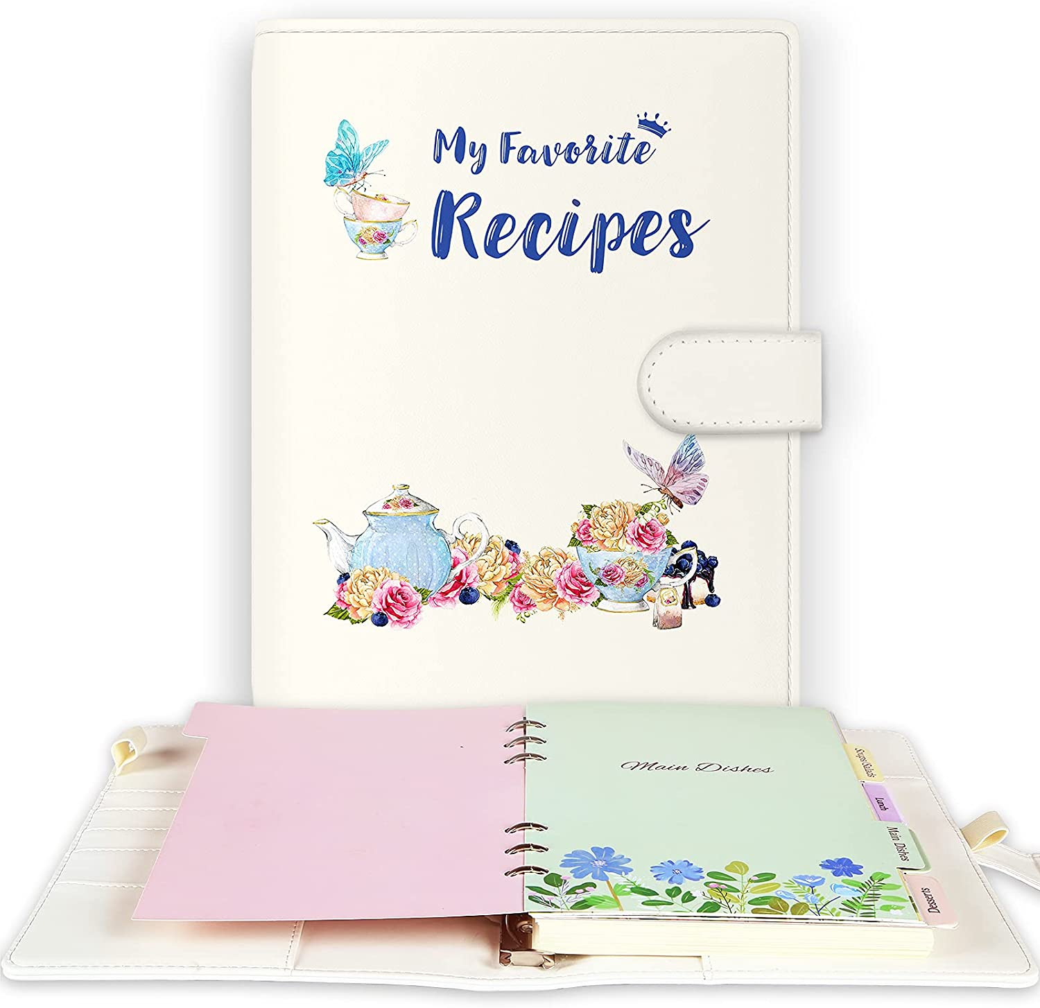 Lubudingjoy Recipe Notebook, Recipe Book to Write in Your Own Recipes, Leather Recipe Journal, Blank Cookbook to Write in, Blank Family Recipe Book to Write in with Blank Recipe Pages
