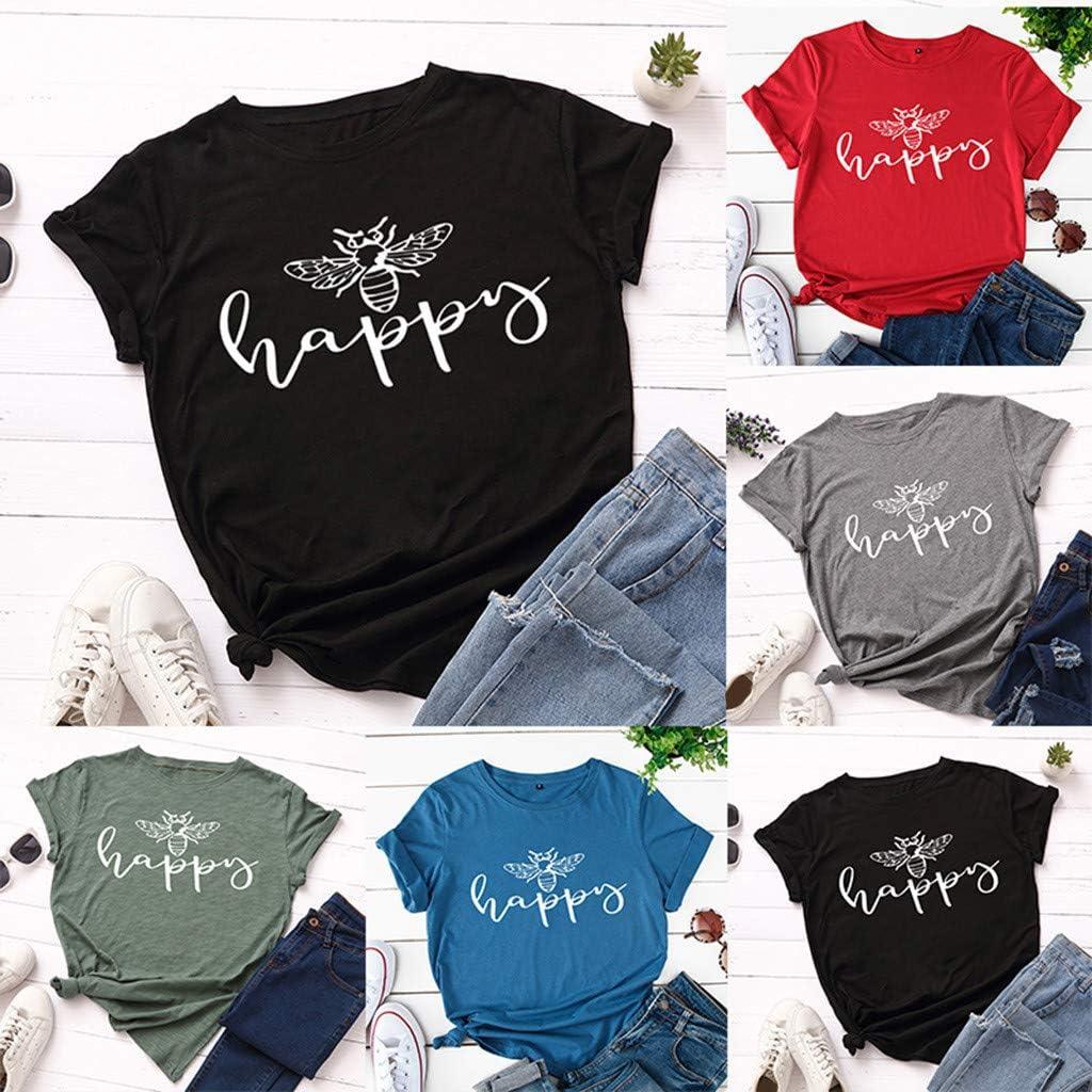 Briskorry T-Shirt Damen Elegante Oberteile Pusteblume L/öwenzahn TShirts Frauen Sommer Oberteile Rundhals Kurzarm Shirt Tops Tee Bluse