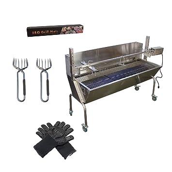Amazon.com: Comercial Bargains BBQ Parrilla Asador con tapa ...