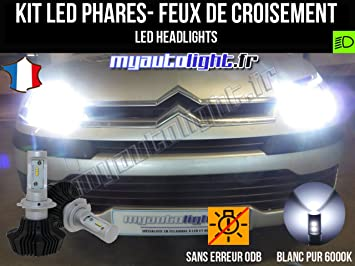 Kit Bombillas de faros LED de H7 alta performance para Citroen C4 1: Amazon.es: Coche y moto