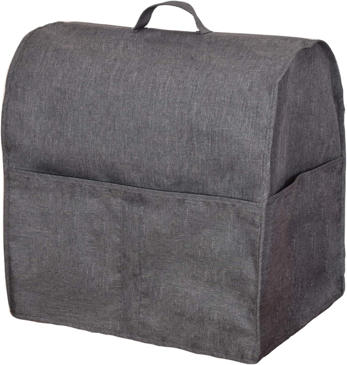 Fits for 4.5-Quart and All 5-Quart, Wine Red Cloth Cover with Pockets for KitchenAid Mixers and Extra Accessories Dust Cover with 4.5-5 Quart KitchenAid Mixers