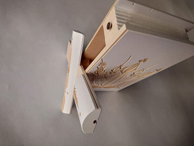ae0df147a92a98 Magic special puzzle book box white with secret opening storage for jewelry  rings money gold hidden space compartment brain teaser chest  Amazon.co.uk   ...