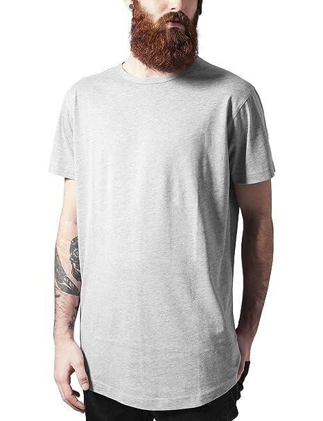 Urban Classics Herren T-Shirt Peached Shaped Long Tee, Grau (Grey 111)