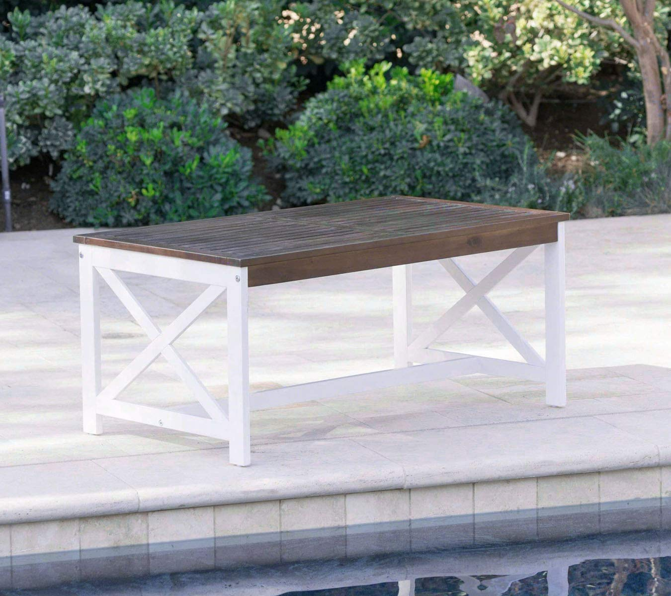 Excellent Amazon Com Low Coffee Table Wooden Outdoor Patio Rectangle Download Free Architecture Designs Scobabritishbridgeorg