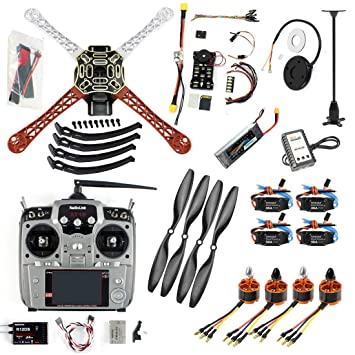 QWinOut DIY FPV Drone Quadcopter 4-axle Aircraft Kit :450 Frame + ...