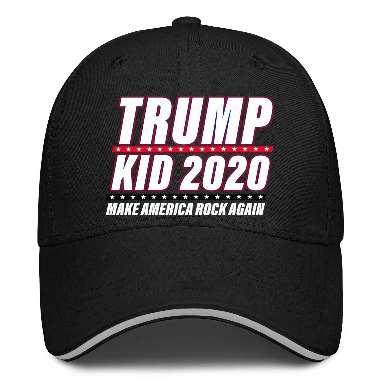Trump Kid 2020 Make America Rock Again Snapback Hat Hip Hop Stylish Mens Baseball Cap Designed
