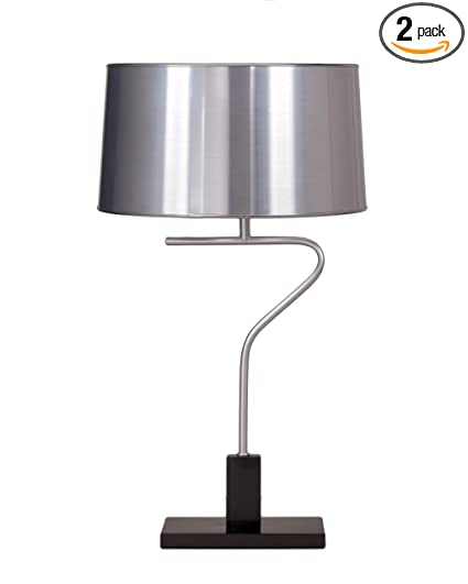 Ashley l412294 poloma table lamp in silver and metallic black finish
