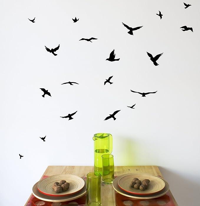 Arise Decals Flock Of Birds Wall Decal Sticker Home Kitchen