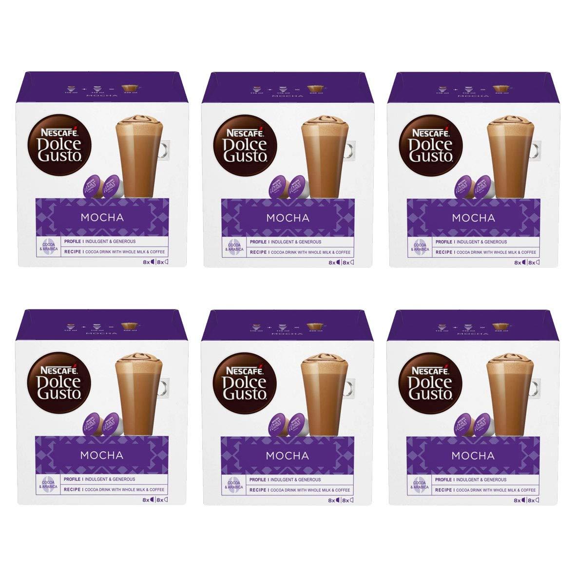Nescafe Dolce Gusto Mocha Coffee Pods 96 Capsules