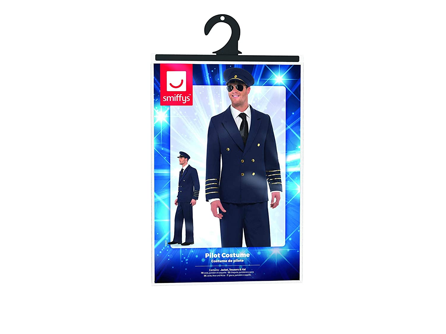 Amazon.com: Smiffys Mens Pilot Costume with Jacket Trousers and Hat: Clothing