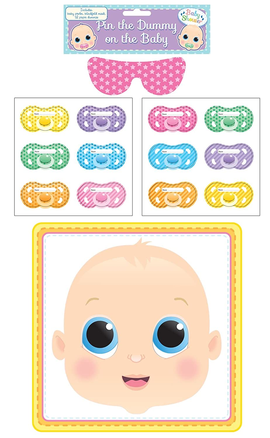 Amazon.com: Henbrandt Pin The Dummy On The Baby Game: Toys & Games