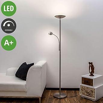 RGB LED Steh Lampe Dielen Schalter Textil Leuchte DIMMER Pailetten Living-XXL