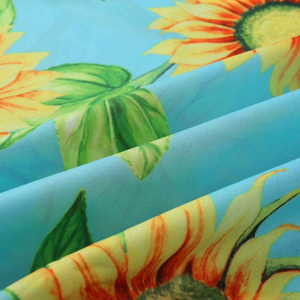 ☆HebeTop Womens Summer Floral Dress Off-Shoulder Casual Beach Sundress Mini Maternity Dresses