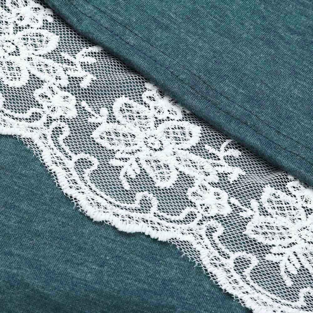 Luckycat Vestido de Manga Larga de algodón con Cuello en V para Mujer con Bolsillos: Amazon.es: Ropa y accesorios