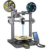LOTMAXX Shark V2 3D Printer, Laser Engraving & Bi-Color Printing 2 in 1, Preassembled 3D Printer Machine with Dual Extruder,