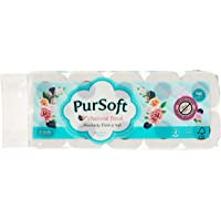 PurSoft Charcoal Floral 3 Ply Bathroom Tissue, 200ct (Pack of 10)