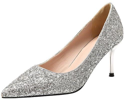 a basso costo economico in vendita preordinare Matrimonio Scarpe con tacco Per Donna Punta punta Bling ...
