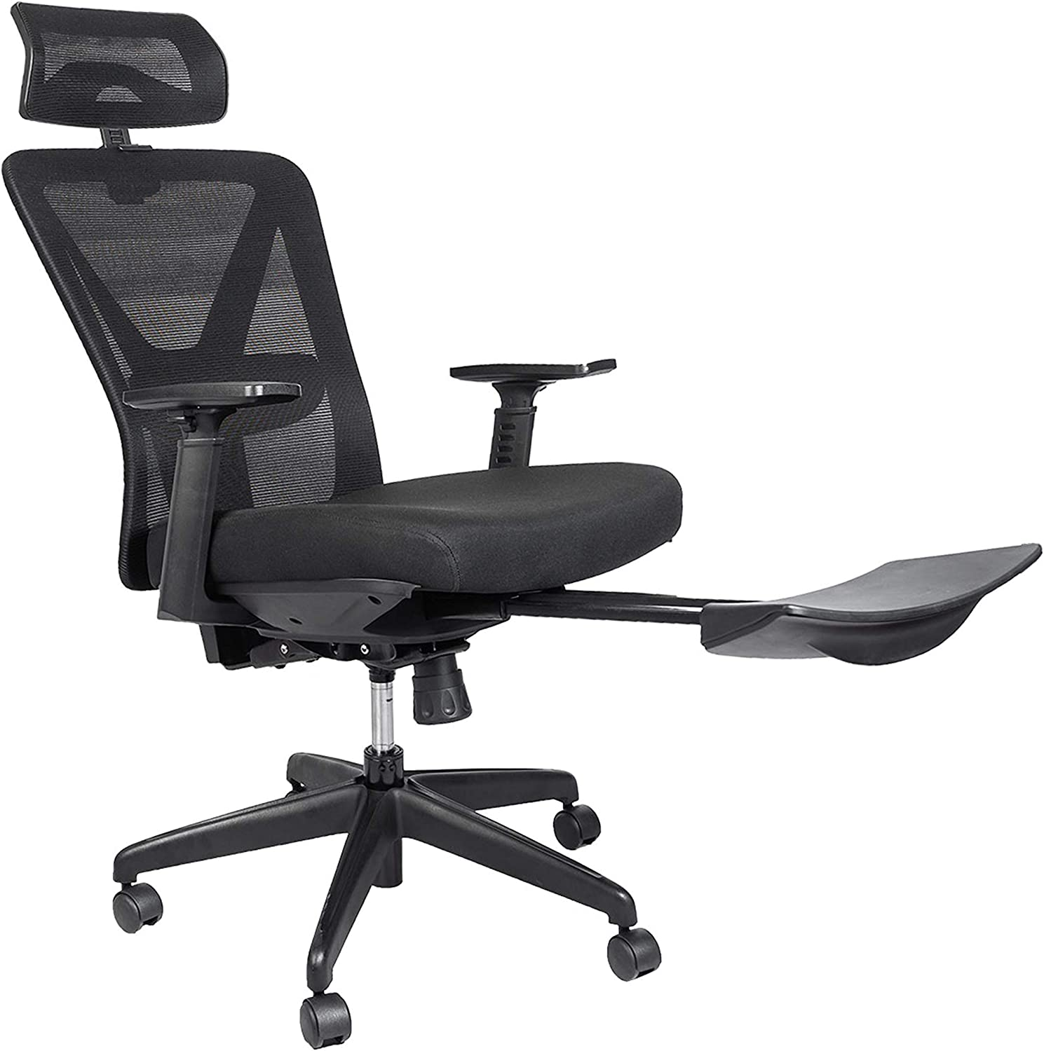 Amazon Com Bonzy Home Reclining Office Chair 300 Lb Capacity Ergonomic Computer Mesh Recliner Executive Swivel Office Desk Chair Task Chair With Hidden Footrest And Lumbar Support Black Footrest Kitchen Dining
