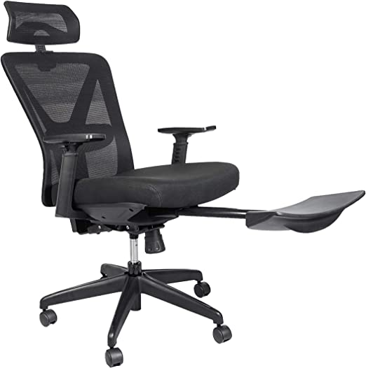Bonzy Home Reclining Office Chair High Back - 300 LB Capacity Ergonomic  Computer Mesh Recliner - Executive Swivel Office Desk Chair - Task Chair  with ...