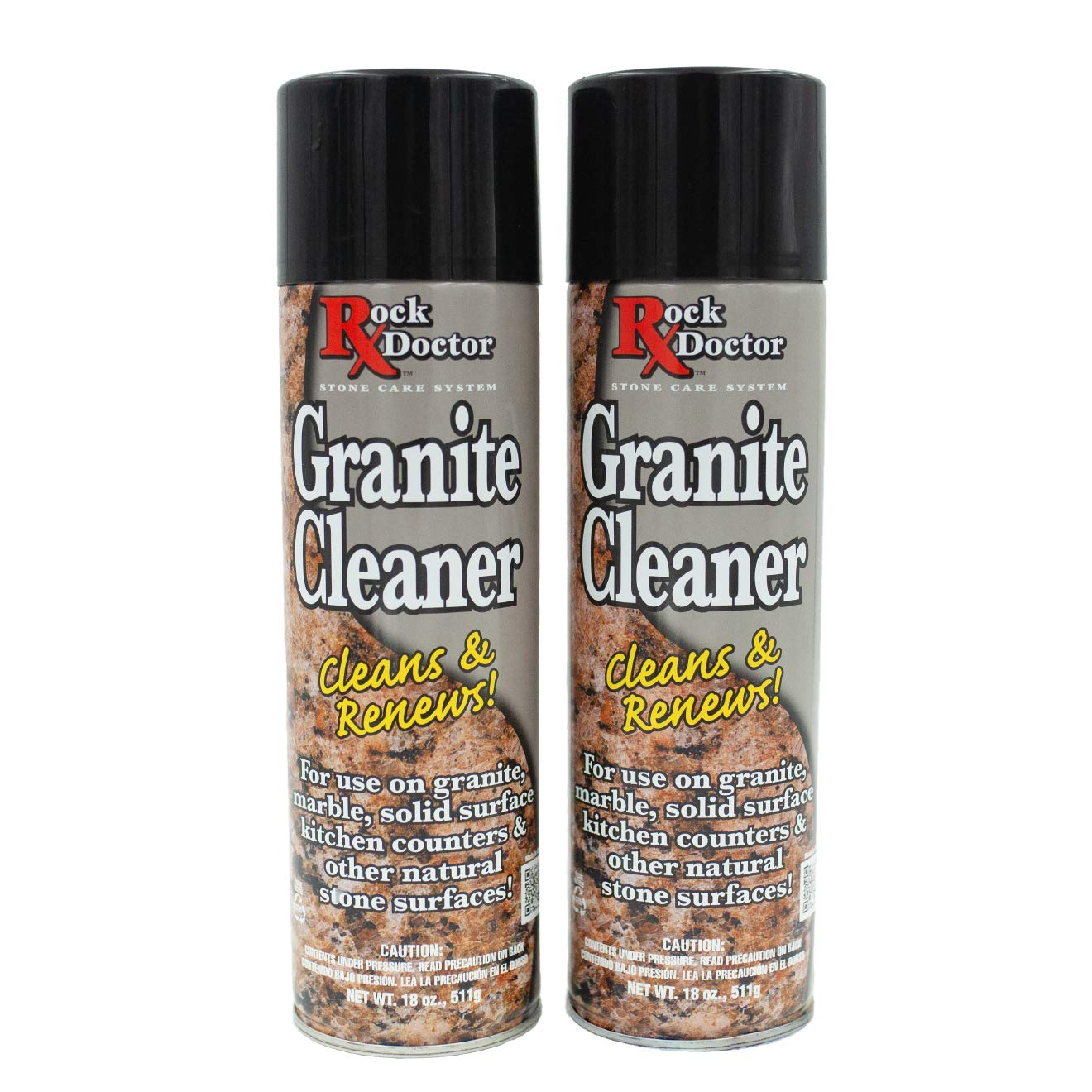 Rock Doctor Granite Cleaner - Cleans& Renews Surfaces - (18 oz) Surface Cleaner Spray, Granite/Marble Countertop Cleaner, Cleaning Spray for Vanity, Table Top, Kitchen Counters, Stone Surfaces (2Pack) by Rock Doctor