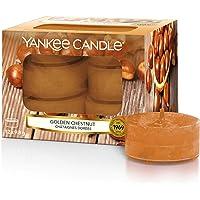 YANKEE CANDLE - Velas de té aromáticas, castaña