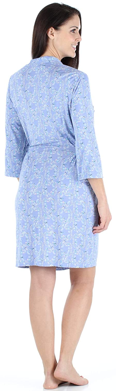 3f267b2d0e bSoft Women s Sleepwear Lightweight Bamboo Jersey Short Wrap Robe at Amazon  Women s Clothing store