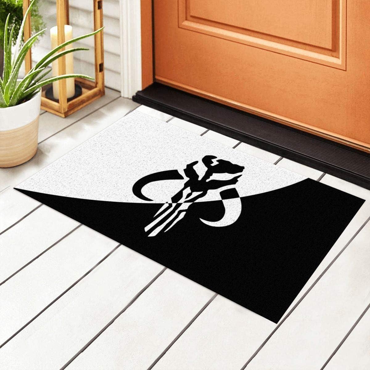 Yuange Star war Manda-lorian Door Mat Outdoor Rug Non Slip PVC Doormat Front Indoor Outdoor Doormats PVC Backing/Bathroom/Kitchen/Bedroom/Entryway Floor Mats Carpet 23.6x15.7 Inch