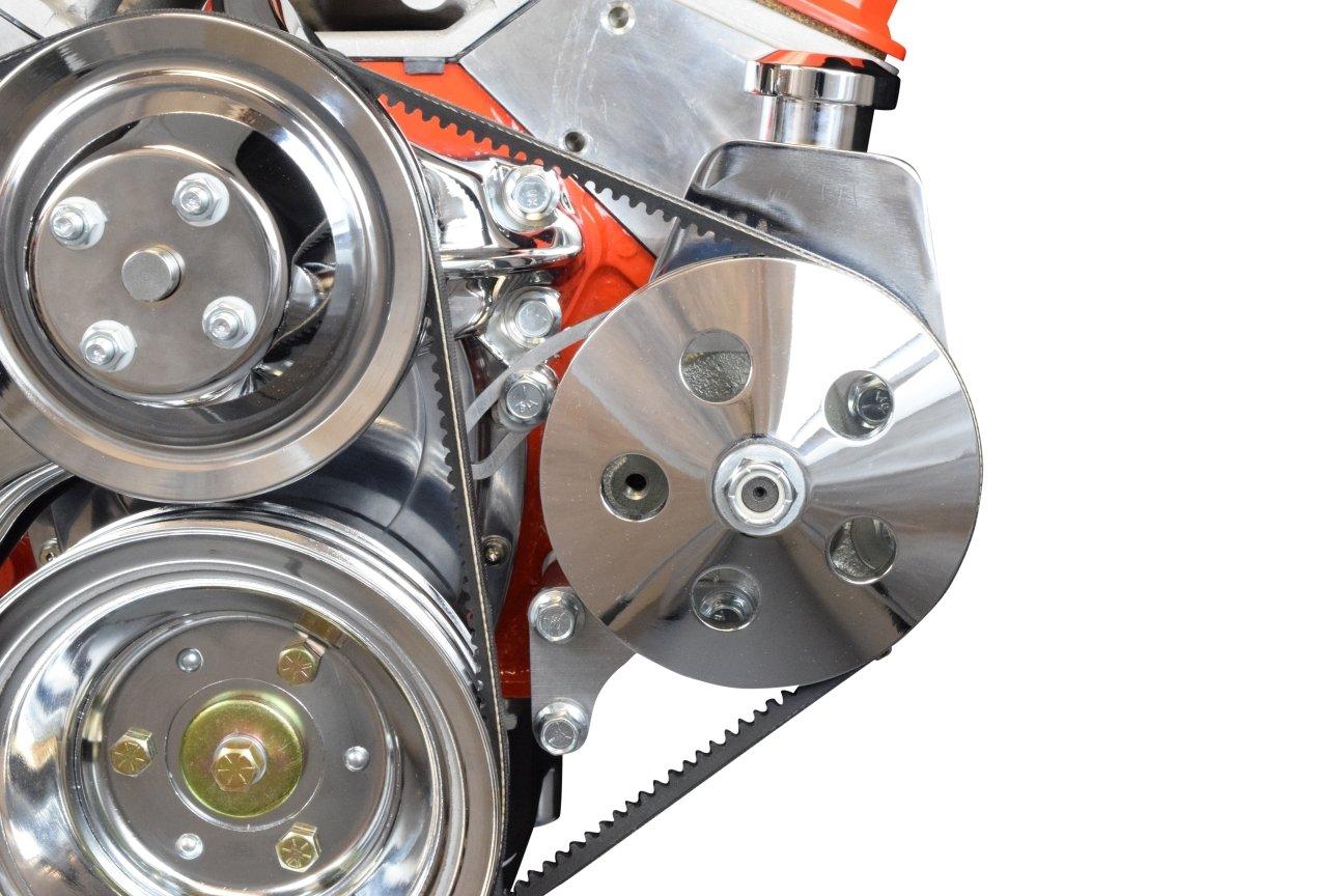 Amazon.com: SBC POWER STEERING PUMP CKET Billet Adjustable LWP ...