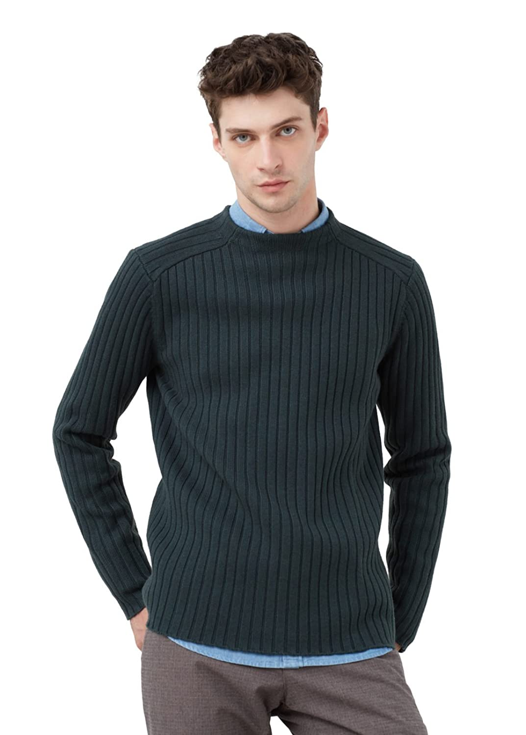 MANGO MAN - Gerippter pullover aus Pullover woll-mix