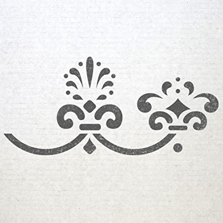 678ff67653a99 J BOUTIQUE STENCILS Wall Baroque Border stencils 003 Pattern Reusable  Template for DIY wall decor  Amazon.co.uk  DIY   Tools
