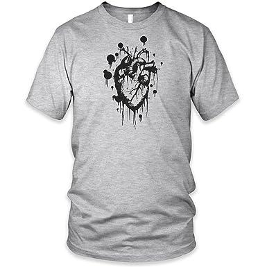 Mens Premium Printed T Shirt Schablone Herz: Amazon.de: Bekleidung