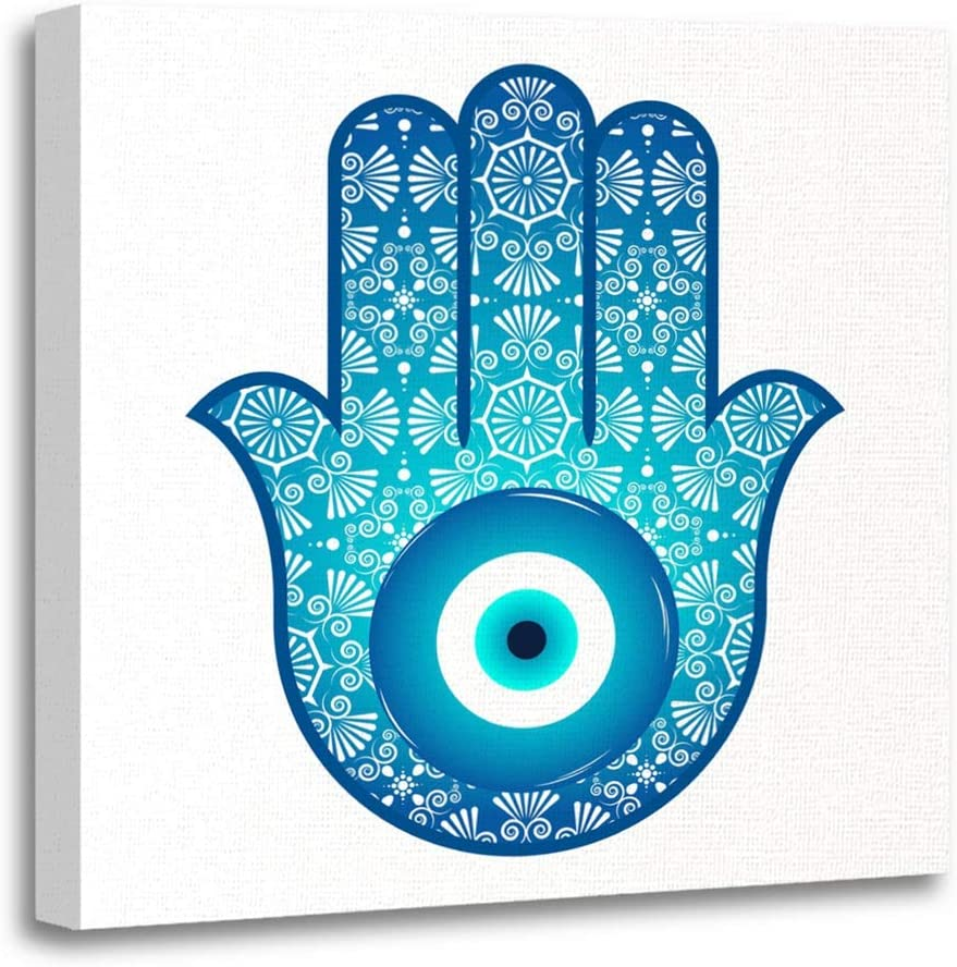 Amazon Com Emvency 12 X12 30x30cm Canvas Painting Wall Art Ornate Amulet Against The Evil Eye And Spoilage Popular And Home Decorative Artwork Prints Posters Prints