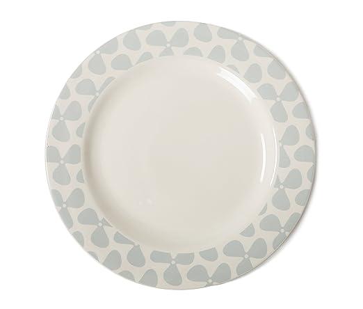 Jersey Pottery Helice Tiza Plato Llano, Color Gris/Crema: Amazon ...