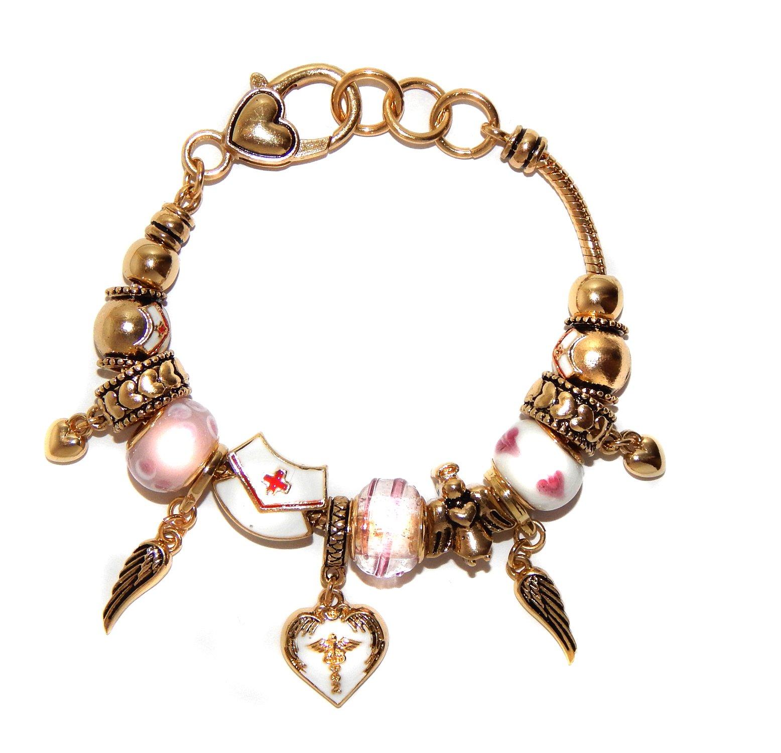 Landau Ambrosia Nurse Theme Charm Bracelet