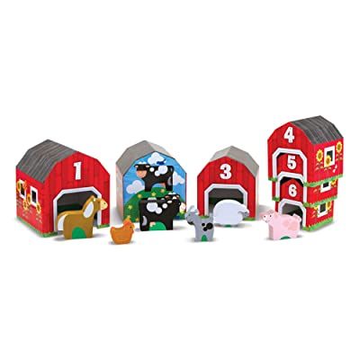 Melissa & Doug Nesting & Sorting Barns & Animals: Melissa & Doug: Toys & Games