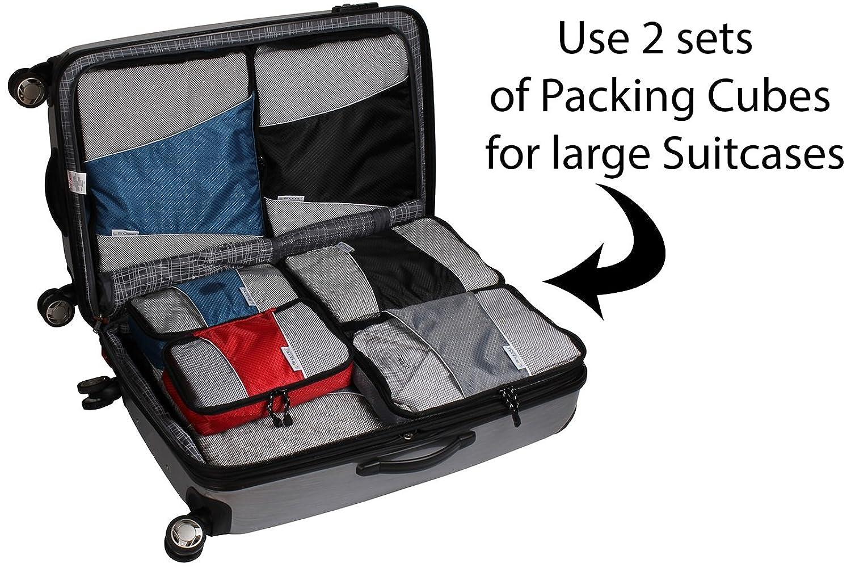 Amazon.com   Packing Cubes - 4 pc Set Luggage Organizer - Bonus ...