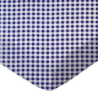 product image for SheetWorld Fitted Bassinet Sheet - Purple Gingham Check - Made In USA