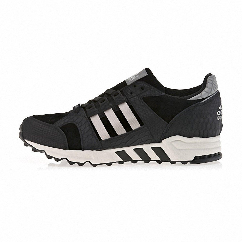 adidas Men EQT Running Support 6 D(M) US|Black / Metallic Silver