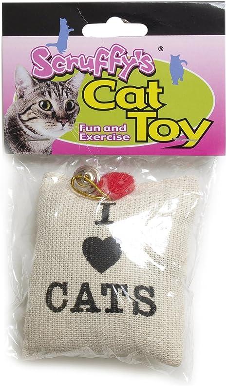 Amazon Com Boss Pet Scruffy S Catnip I Love Cats Catnip Burlap