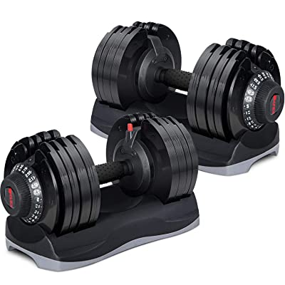 Merax Deluxe 71.5 Pounds Adjustable Dial Dumbbell