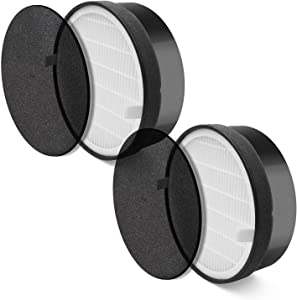 LEVOIT LV-H132 Air Purifier Replacement Filter, 3-in-1 Nylon Pre-Filter, True HEPA Filter, High-Efficiency Activated Carbon Filter, LV-H132-RF, 2 Pack