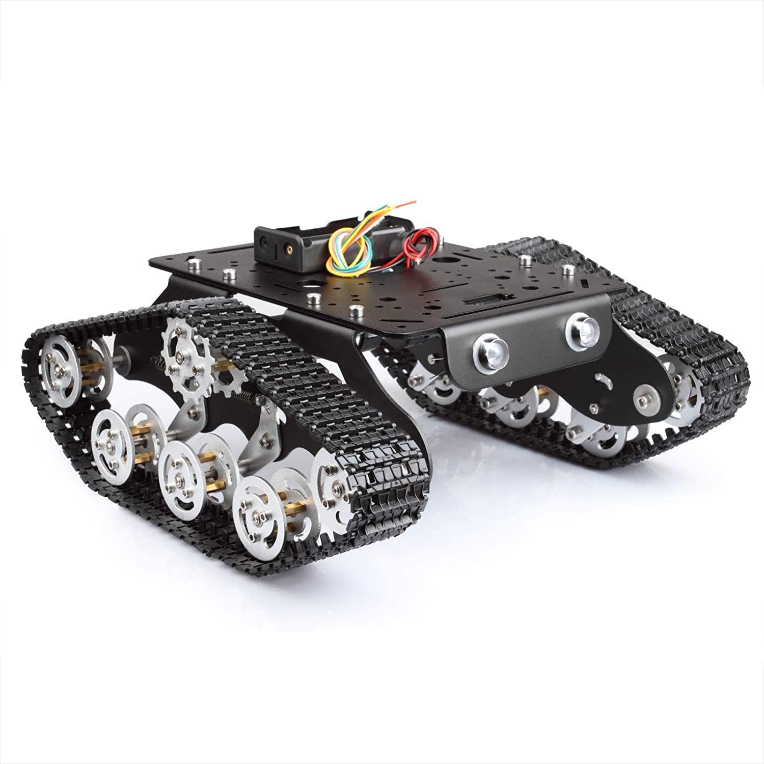 Tracked Robot Smart Car Platform Aluminum alloy Chassis with Dual DC 9V Motor for Arduino DIY