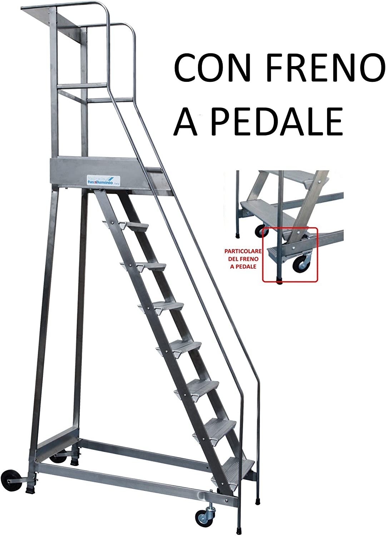 Store-Castillo palchetto Up-Escalera con FRENO de pie aluminio y acero inoxidable-disponibles unidades: Amazon.es: Bricolaje y herramientas