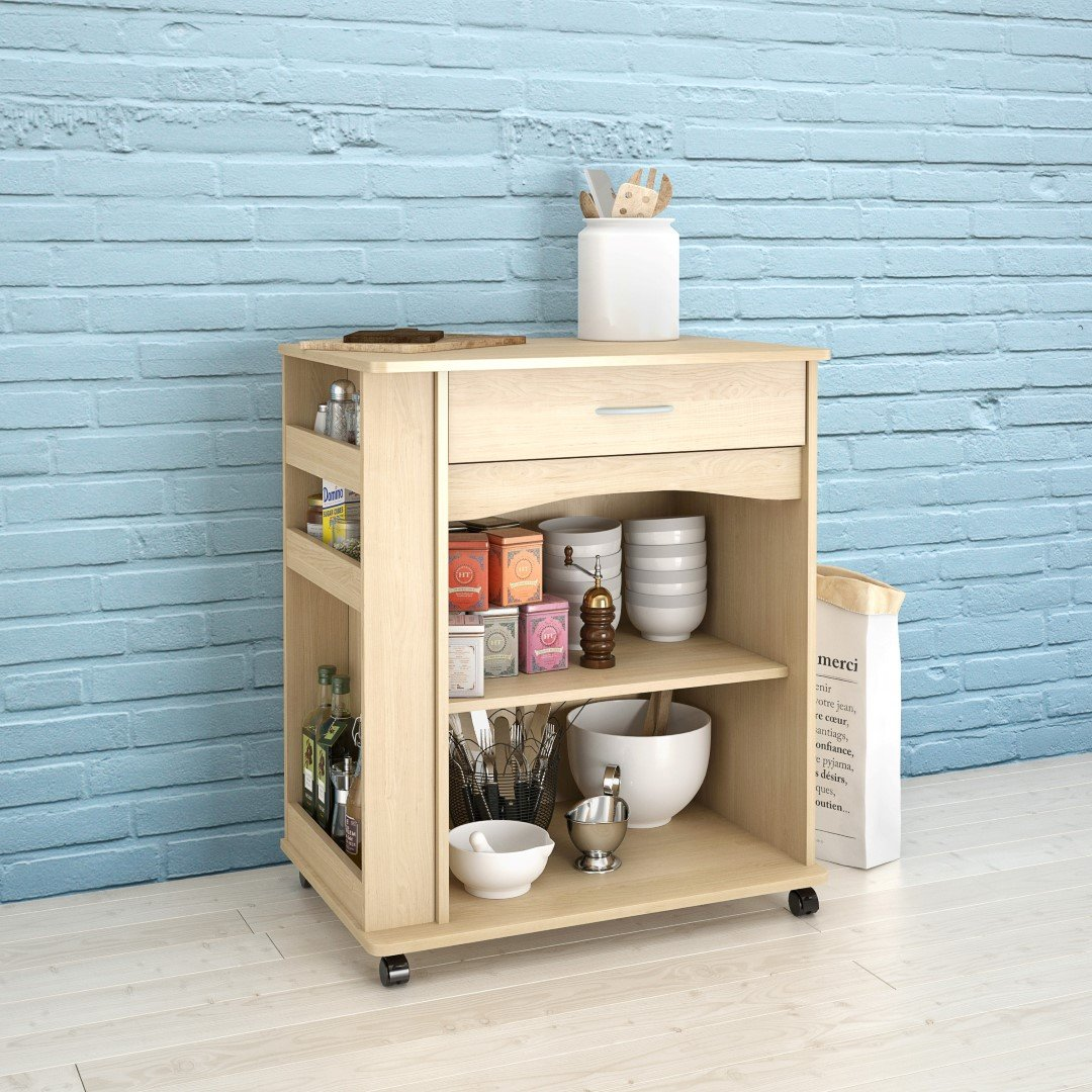 Amazon.com: Nexera Mobile Cart with side Racks: Kitchen & Dining