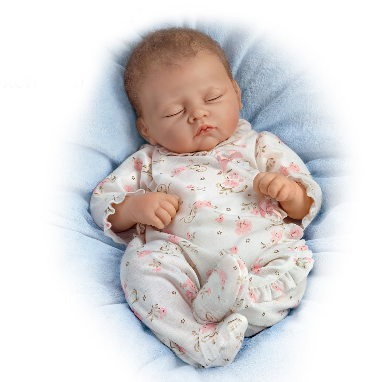 Sophia Breathes, Coos and has a Heartbeat - So Truly Real® Lifelike, Interactive & Realistic Weighted Newborn Baby Doll 19-inches  by The Ashton-Drake Galleries