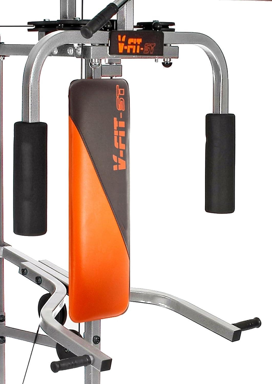 V-Fit LFG2 Herculean COBRA Lay Flat Home Gym 64kg: Amazon.co.uk: Sports &  Outdoors
