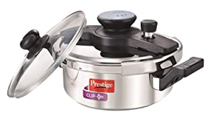 Prestige Clip On Stainless Steel Pressure Cooker with Glass Lid (3 LITERS)