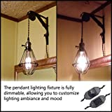 Single Vintage Edison Socket plug in Pendant
